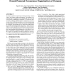 It's just a matter of perspective(s): Crowd-Powered Consensus Organization of Corpora