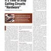 """It's Time to Stop Calling Circuits """"Hardware"""""""