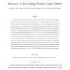 Joint turbo channel estimation and data recovery in fast fading mobile coded OFDM