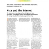 K-12 and the Internet