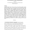 Key distribution in PKC through Quantas