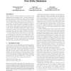 Keyword++: A Framework to Improve Keyword Search Over Entity Databases