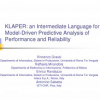 KLAPER: An Intermediate Language for Model-Driven Predictive Analysis of Performance and Reliability