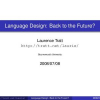 Language design: back to the future?