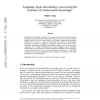 Language, logic and ontology: uncovering the structure of commonsense knowledge