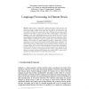 Language Processing in Human Brain