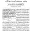 Large system analysis of beamforming for MIMO systems with limited training