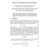 Lattice ICA for the separation of speech signals