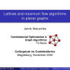 Lattices and Maximum Flow Algorithms in Planar Graphs