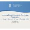 Learning based coarse-to-fine image registration