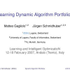 Learning dynamic algorithm portfolios