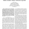 Learning Genetic and Gene Bayesian Networks with Hidden Variables: Bilayer Verification Algorithm