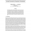 Learning Taxonomies by Dependence Maximization