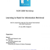 Learning to rank for information retrieval (LR4IR 2008)