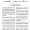Least Squares Estimation for the Digital Compensation of Tx Leakage in zero-IF Receivers