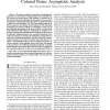 Least squares estimation of 2-D sinusoids in colored noise: Asymptotic analysis