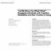 """Let me show you what i want"": engaging individuals with cognitive disabilities and their families in design"