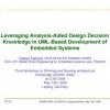 Leveraging analysis-aided design decision knowledge in UML-based development of embedded systems