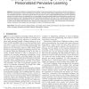 Lifelong Learner Modeling for Lifelong Personalized Pervasive Learning