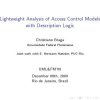 Lightweight analysis of access control models with description logic