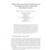 Limits and Power Laws of Models for the Web Graph and Other Networked Information Spaces