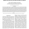 Linear combinations of nonlinear models for predicting human-machine interface forces
