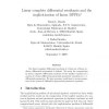 Linear complete differential resultants and the implicitization of linear DPPEs