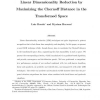 Linear dimensionality reduction by maximizing the Chernoff distance in the transformed space