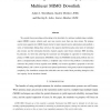 Linear Processing and Sum Throughput in the Multiuser MIMO Downlink