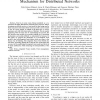 Linguistic Fuzzy Logic Enhancement of a Trust Mechanism for Distributed Networks