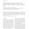 Linked Dataset description papers at the Semantic Web journal: A critical assessment