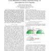 Local Minimum of Elastic Potential Energy on Hemispherical Soft Fingertip