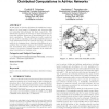 Locally constructed algorithms for distributed computations in ad-hoc networks