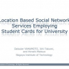 Location-based social network services employing student cards for university