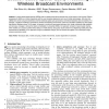 Location-Based Spatial Query Processing in Wireless Broadcast Environments
