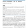Logical Development of the Cell Ontology