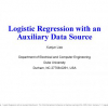 Logistic regression with an auxiliary data source