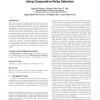 Low complexity virtual antenna arrays using cooperative relay selection