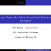 Lower Bounds for Subset Cover Based Broadcast Encryption