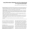 Lung Deformation Estimation and Four-Dimensional CT Lung Reconstruction