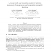 Lyndon Words and Transition Matrices between Elementary, Homogeneous and Monomial Symmetric Functions