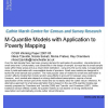 M-quantile models with application to poverty mapping