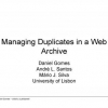 Managing duplicates in a web archive