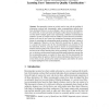 Market-Based Recommender Systems: Learning Users' Interests by Quality Classification