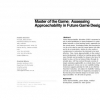 Master of the game: assessing approachability in future game design