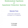 Mathematical Synthesis of Equational Deduction Systems