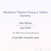 Mechanical Theorem Proving in Tarski's Geometry
