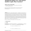 Merging percolation on Zd and classical random graphs: Phase transition