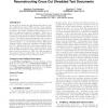 Meta-heuristics for reconstructing cross cut shredded text documents