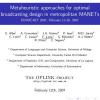 Metaheuristic Approaches for Optimal Broadcasting Design in Metropolitan MANETs